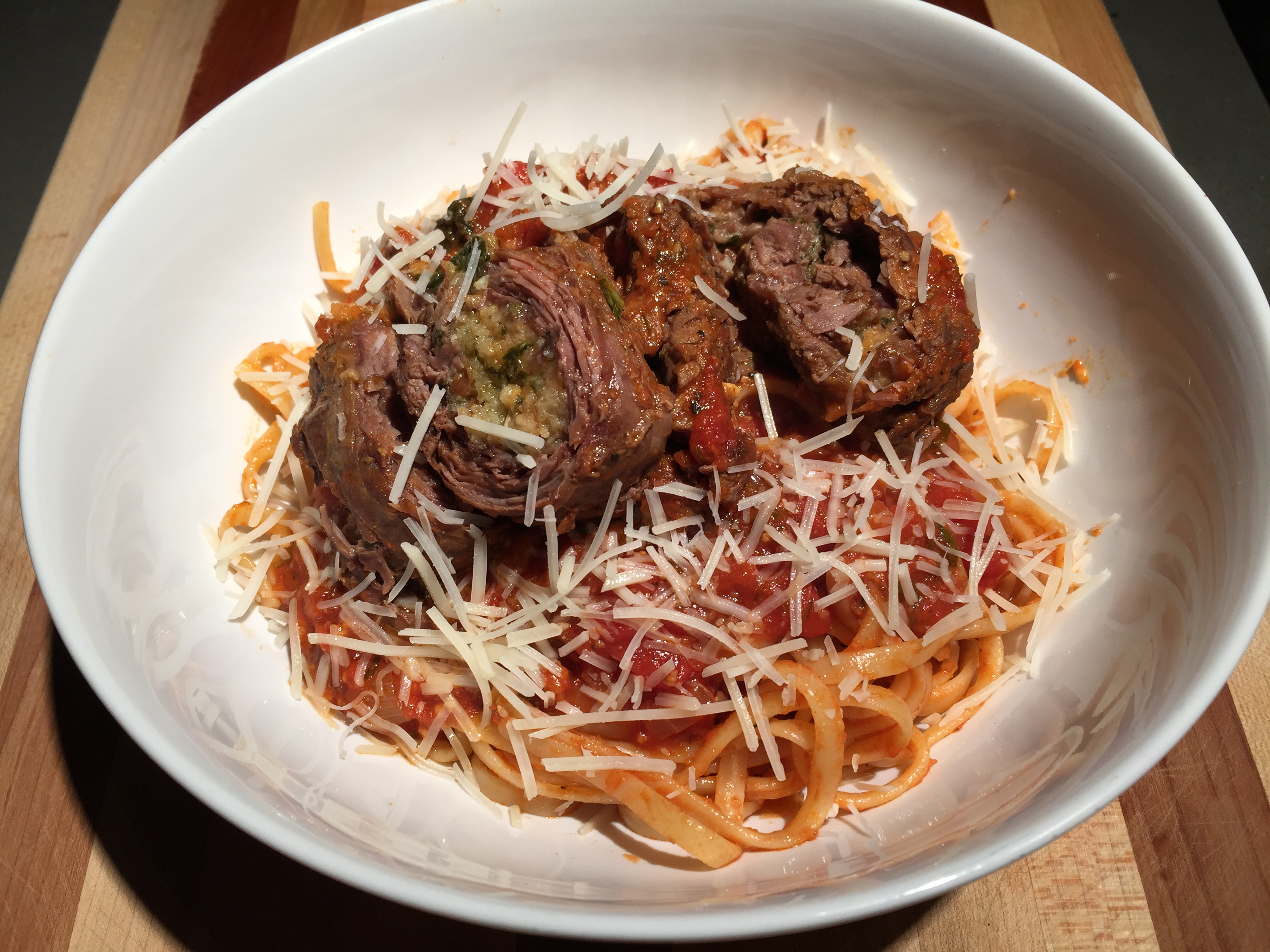 "slow cooked sunday ""supper"" – beef braciole"