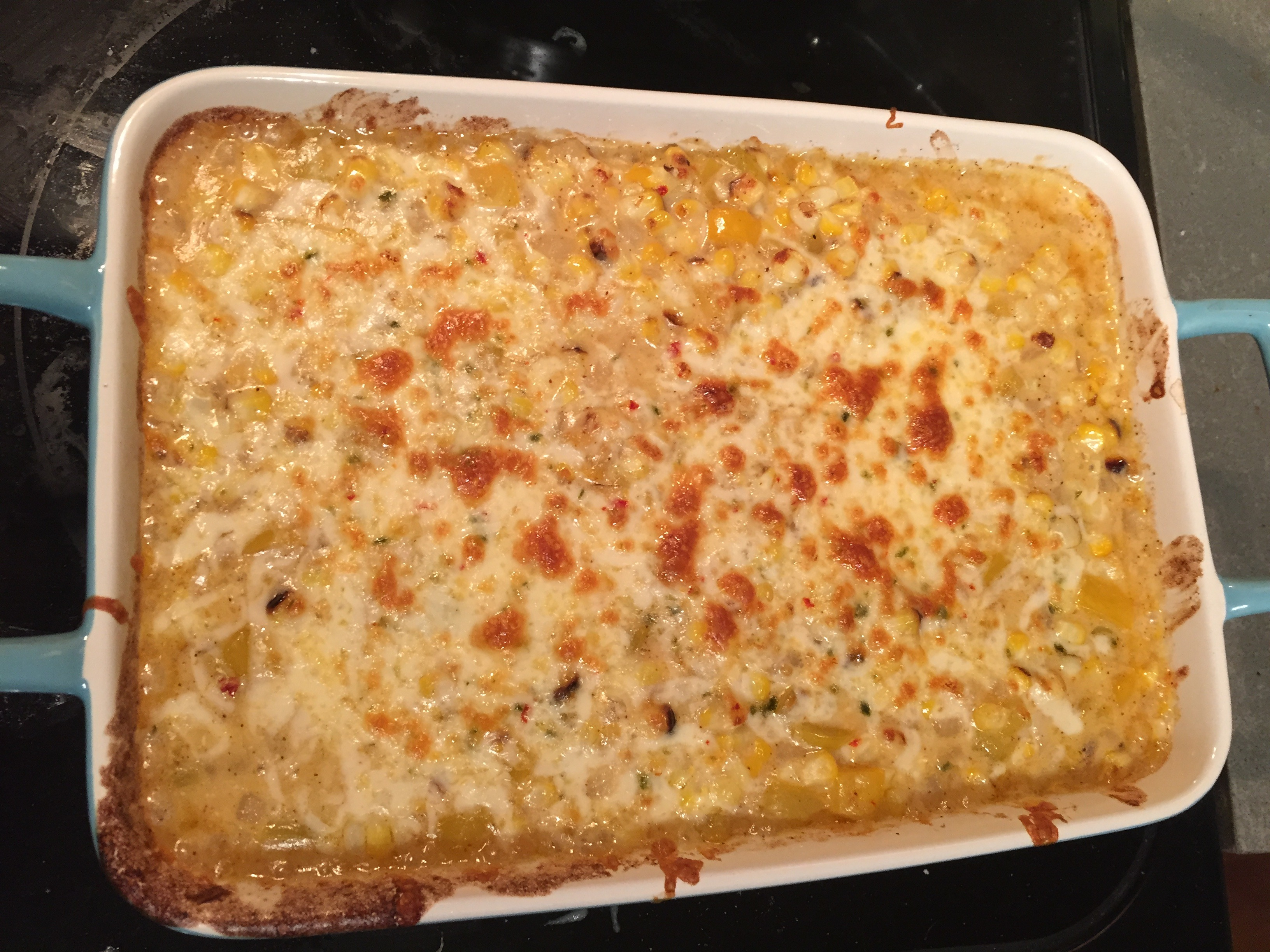 "summertime sides – corn ""mac"" and cheese"