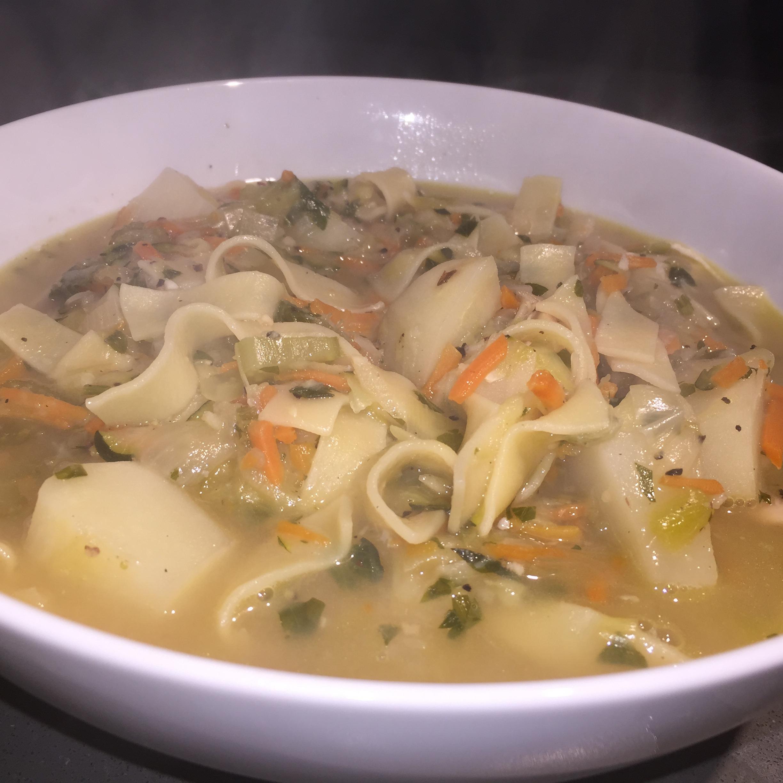 winter comfort – chicken noodle soup