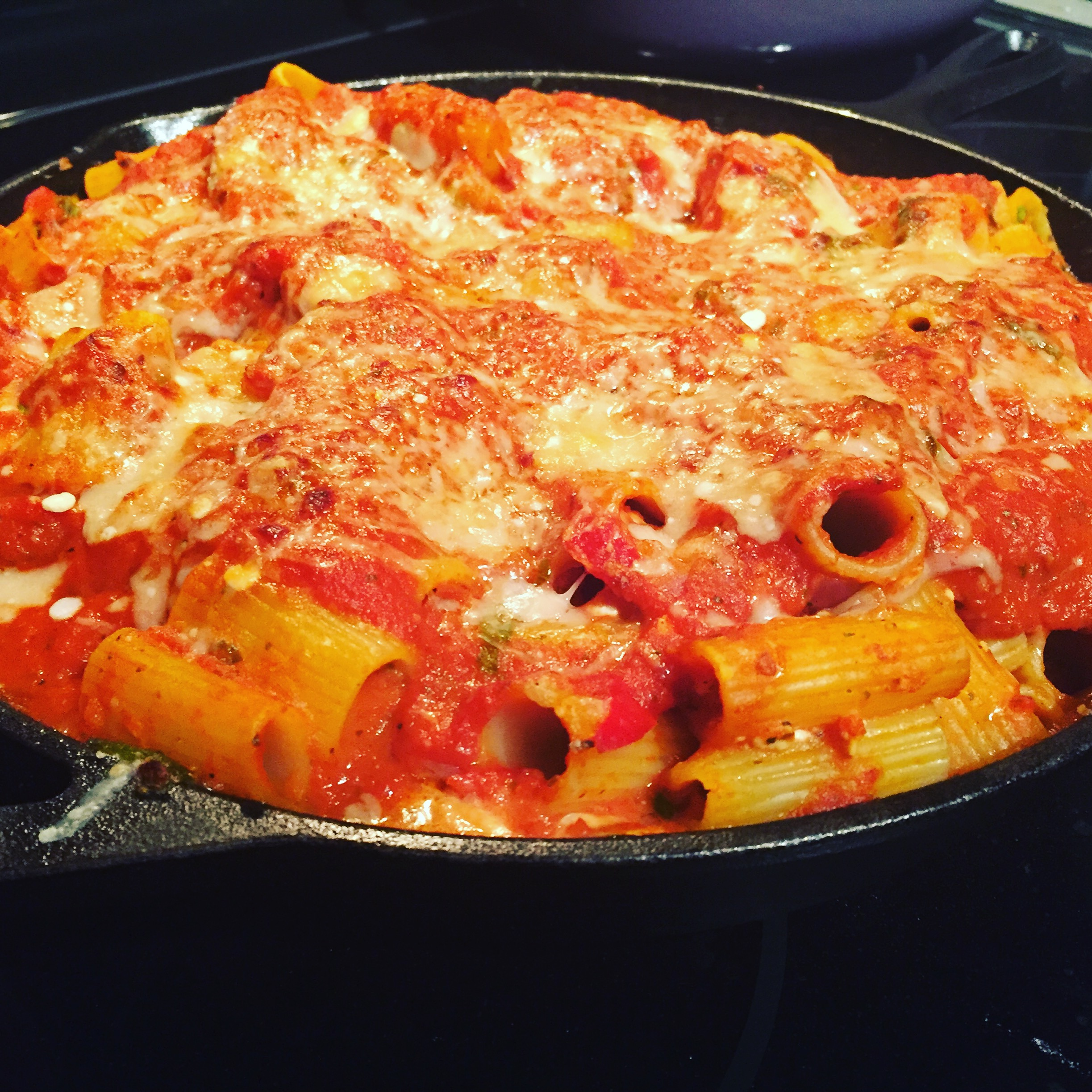 a spin on my grandma's classic – rigatoni night
