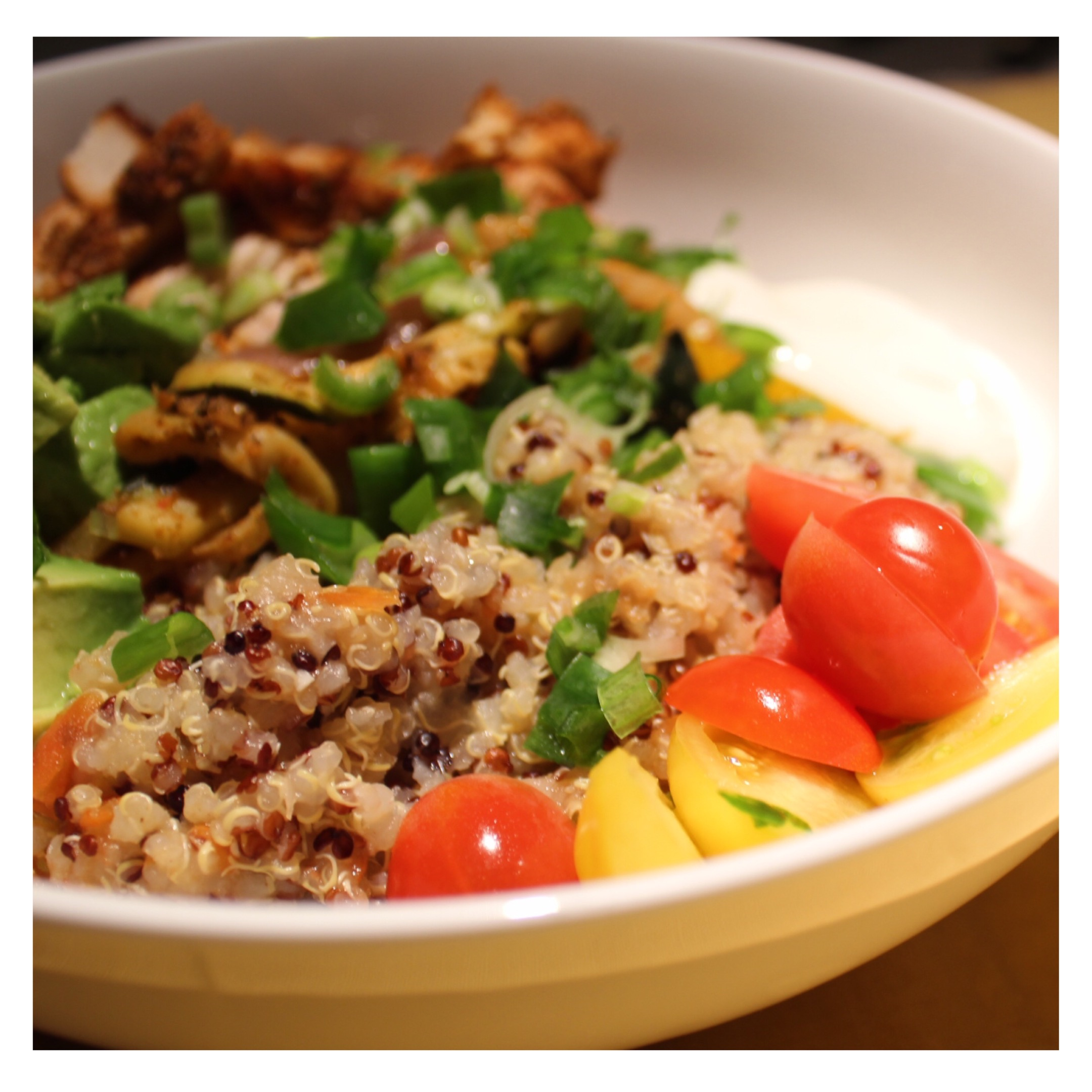 Fiesta Bowl: Chicken, fajita veggie and quinoa
