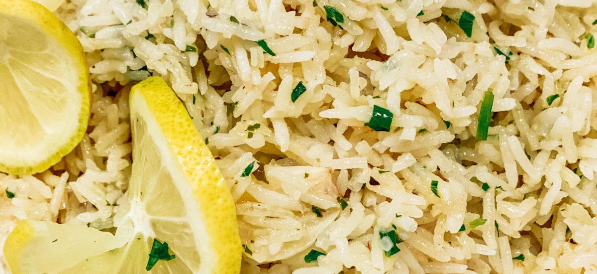 Easy Lemon Garlic Parmesan Rice