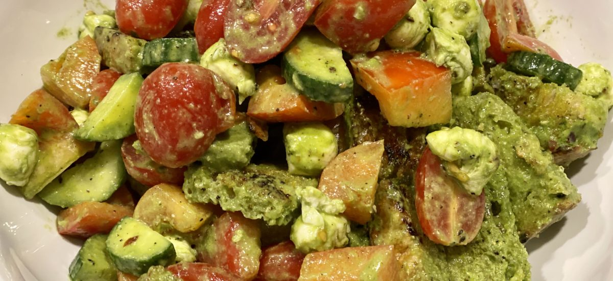 Pesto Panzanella Salad