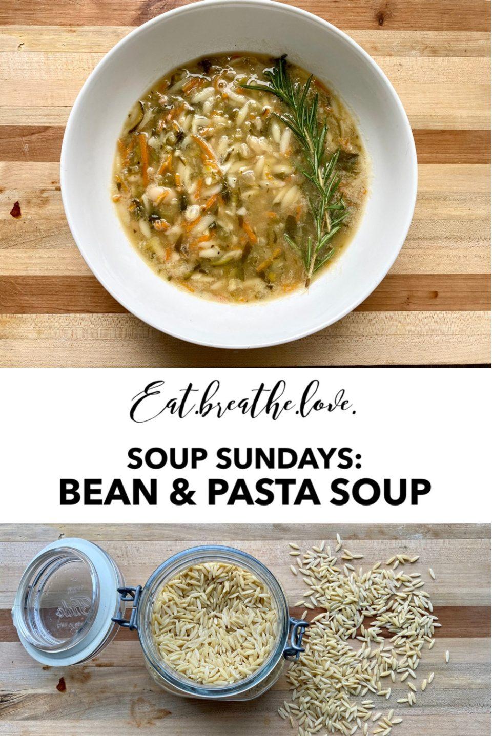 Bean & Pasta Soup || www.eatbreathelove.net