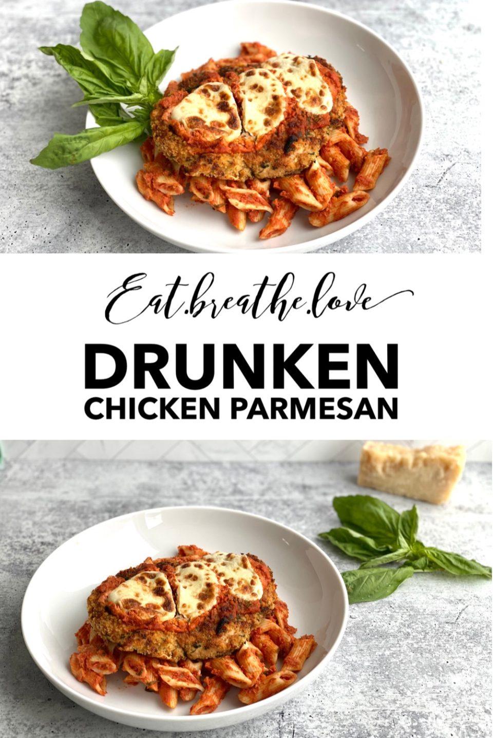 Drunken Chicken Parmesan || www.eatbreathelove.net