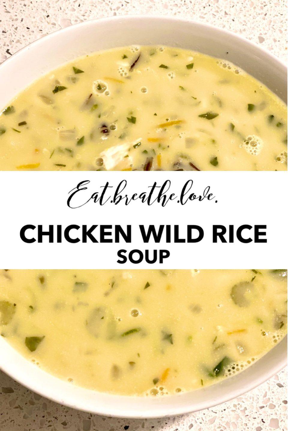 Chicken Wild Rice Soup || www.eatbreathelove.net