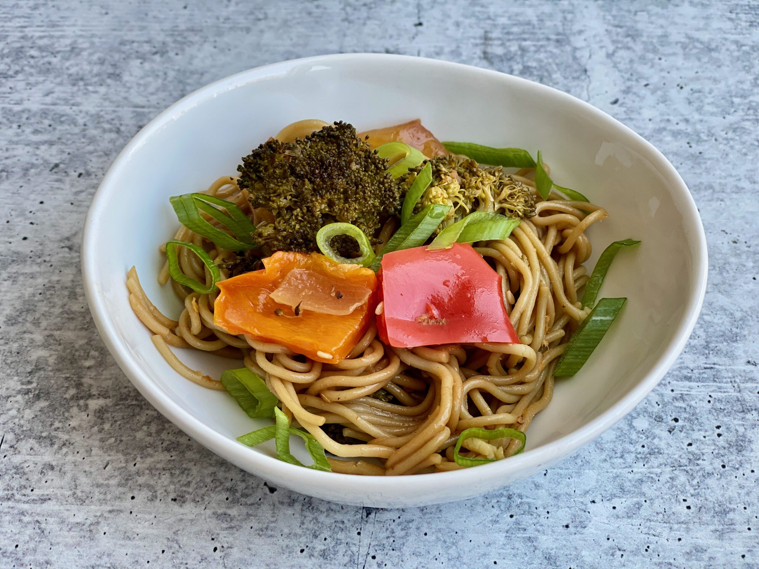 Image of a bowl of ramen noodles with veggies
