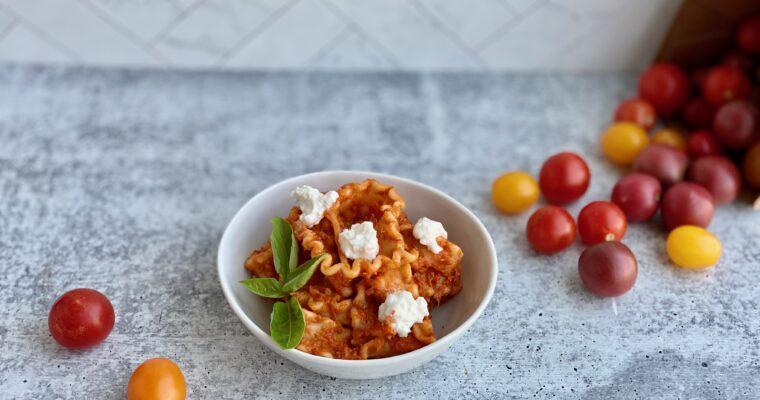 Cherry Tomato Pasta with Burrata
